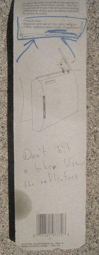 Don't hit a biker
